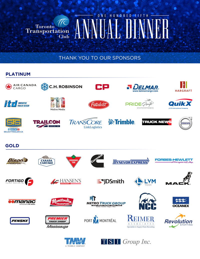 2018 Annual Dinner Sponsors